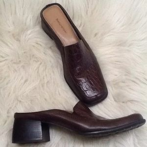 Naturalizer  Sz 10N Mules/Clogs Brown Leather